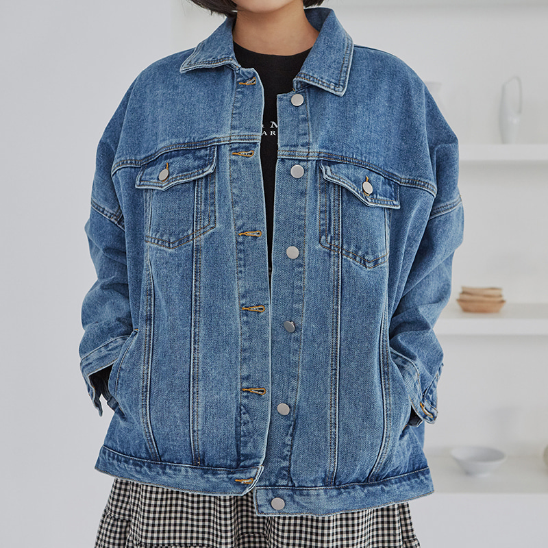 [무료배송] Over band denim jacket-모스빈