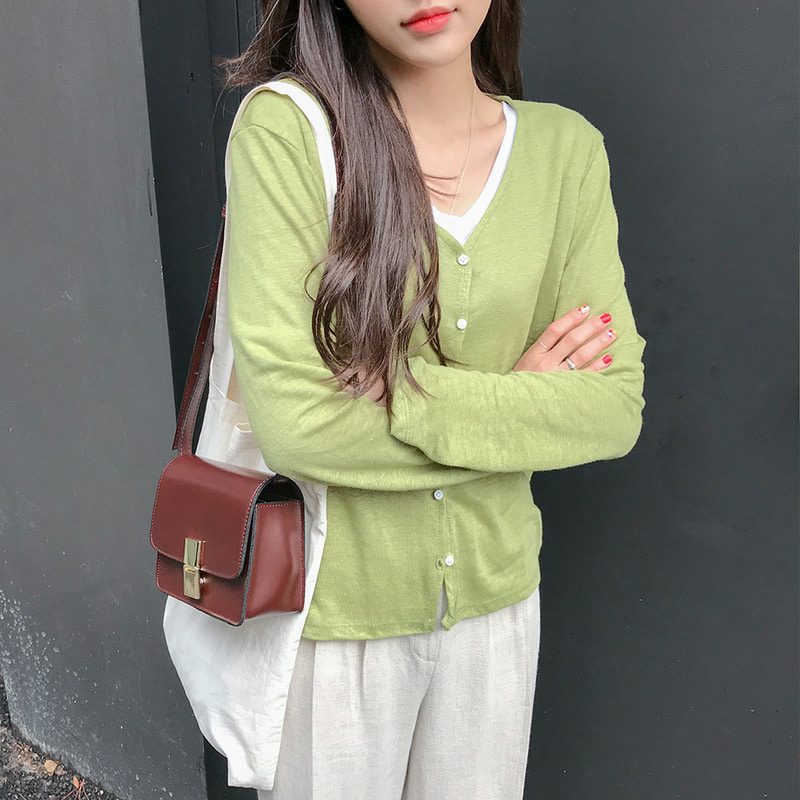 [무료배송] Non-collar daily cardigan-모스빈