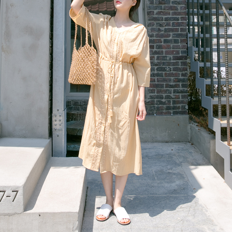 [무료배송] Organic robe one-piece-모스빈