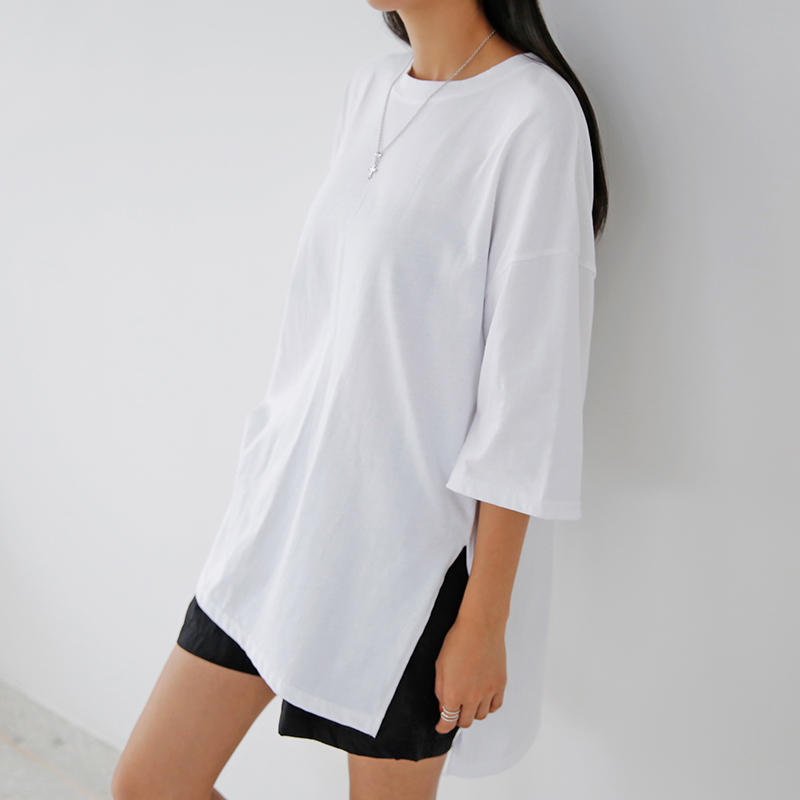 [무료배송]Daily unbal-layered tee-모스빈
