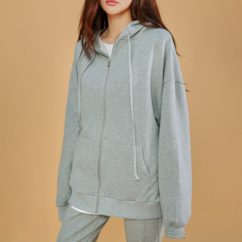 [MOS] average 170. cozy boxy hood zip-up-모스빈