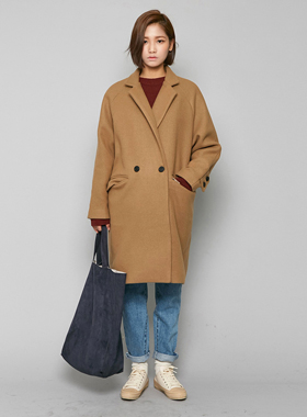모카 wool-long coat