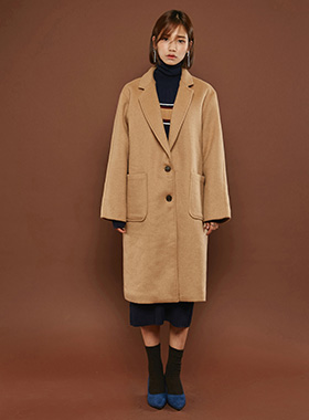 patch pocket  싱글 wool coat
