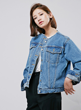 round cutting denim jacket 패션쇼핑몰 모스빈(Mossbean)