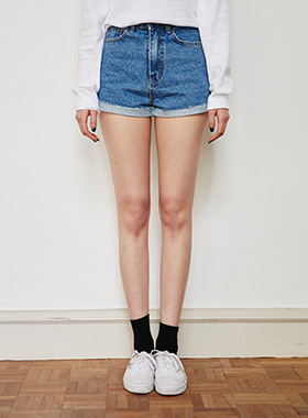 roll-up short denim pants 패션쇼핑몰 모스빈(Mossbean)