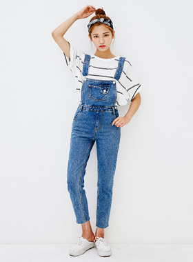 Long casual overall denim pants 패션쇼핑몰 모스빈(Mossbean)