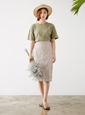 draping stripe wrap skirt 패션쇼핑몰 모스빈(Mossbean)
