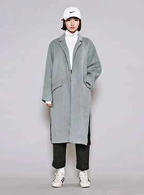 버긴 handmade wool over coat