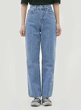 Casual straight denim pants 패션쇼핑몰 모스빈(Mossbean)