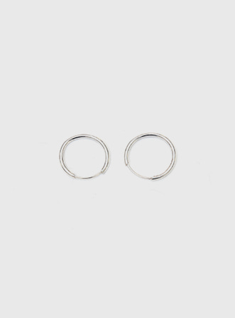 Simple real silver earing 패션쇼핑몰 모스빈(Mossbean)
