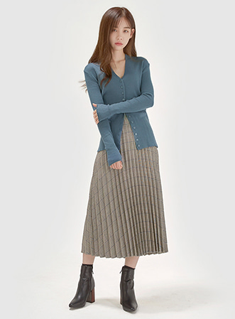 [무료배송] Soft feminine button cardigan-모스빈