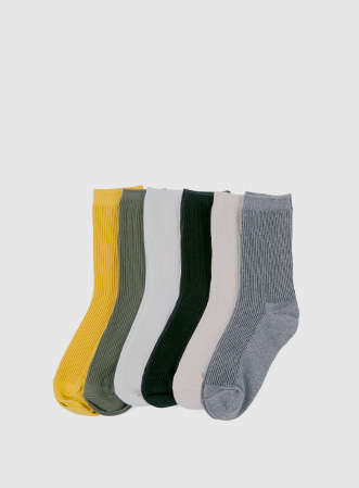 Daily plain socks-모스빈