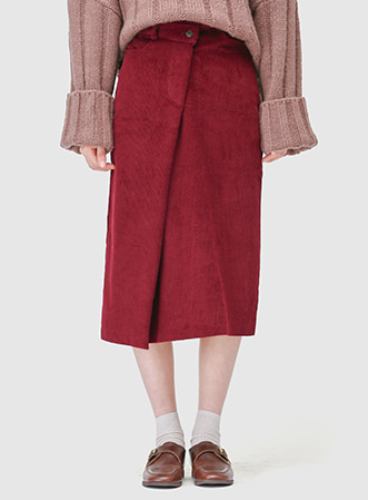 Corduroy unbal midi skirt 패션쇼핑몰 모스빈(Mossbean)