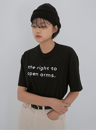 Open lettering t-shirts 패션쇼핑몰 모스빈(Mossbean)