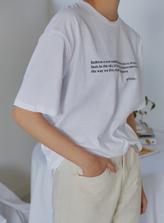 Saying letter t-shirts 패션쇼핑몰 모스빈(Mossbean)