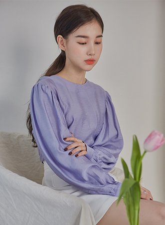 [무료배송] Sleeve puff point blouse-모스빈