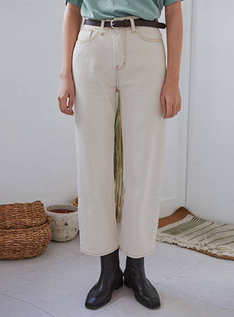 [무료배송] Daily stitch cotton pants-모스빈
