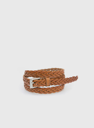 [무료배송] Twist real leather belt-모스빈