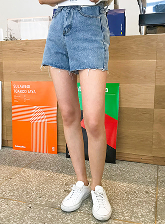 [무료배송] Vintage washing shorts-모스빈