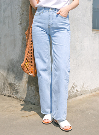 [무료배송] Clean straight denim pants-모스빈