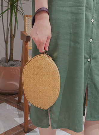 [무료배송] Winding rattan multi bag-모스빈