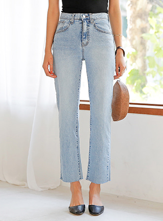 [무료배송] Bright cozy denim pants-모스빈