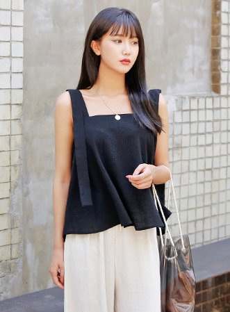 [무료배송] Droop strap sleeveless-모스빈